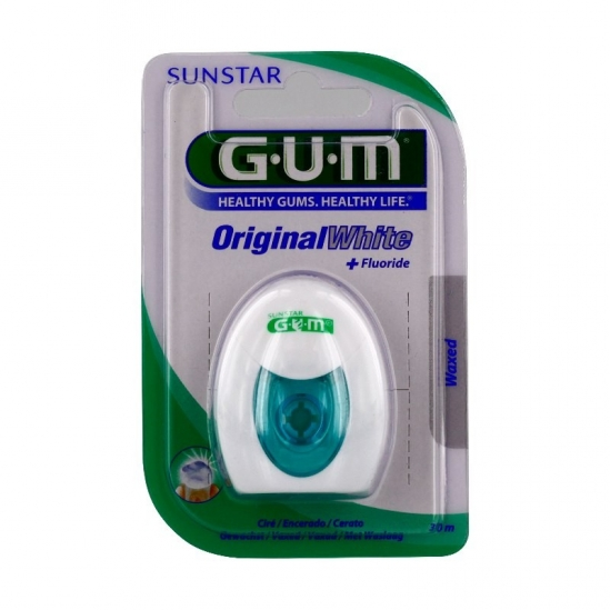 GUM original white 2040 fil dentaire ciré 30m