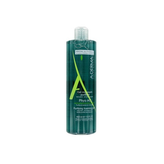 Aderma Phys-AC gel moussant purifiant 400ml