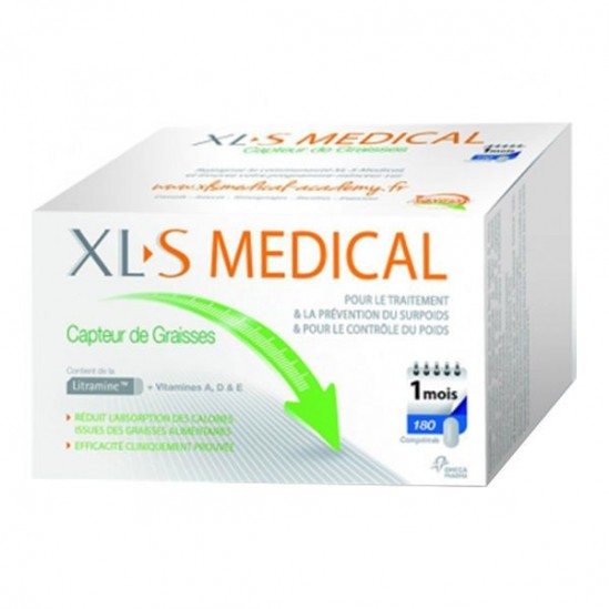 XLS médical capteur de graisses 180 comprimés