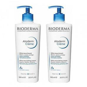 Bioderma atoderm crème ultra nourrissante sans parfum 500mlx2
