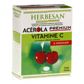 Herbesan acérola premium vitamine c 500 30 comprimés