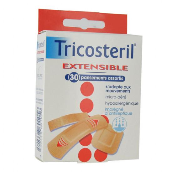 Tricosteril extensible 30 pansements