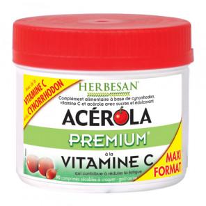 Herbesan acérola premium vitamine C 90 comprimés
