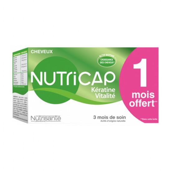 Nutrisanté nutricap kératine vitalité 3 mois de soin 90 capsules