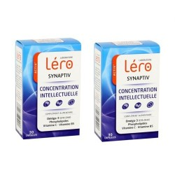 Léro synaptiv concentration intellectuelle duo 2x30 comprimés
